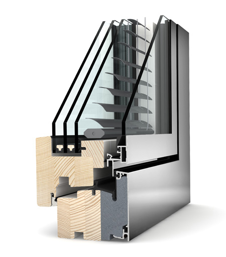 fen tres bois aluminium internorm